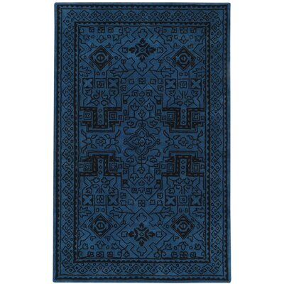 Orinda Graphic Hand Tufted Sapphire Area Rug Rug Size: 5 x 8