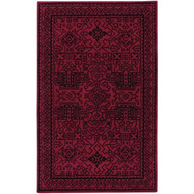 Orinda Graphic Hand Tufted Red Area Rug Rug Size: 5 x 8