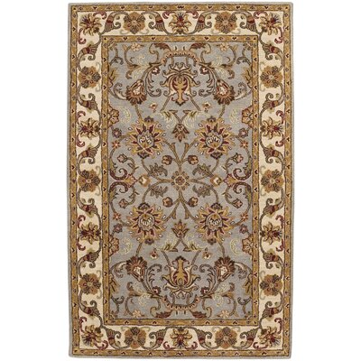 Guilded Hand-Tufted Smoke Area Rug Rug Size: 26 x 36