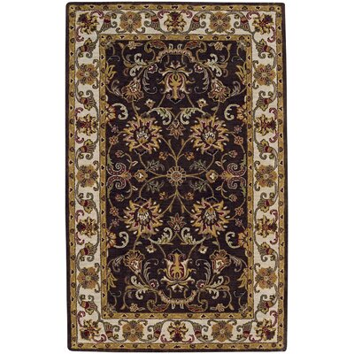 Guilded Hand Tufted Cocoa Area Rug Rug Size: 5 x 8