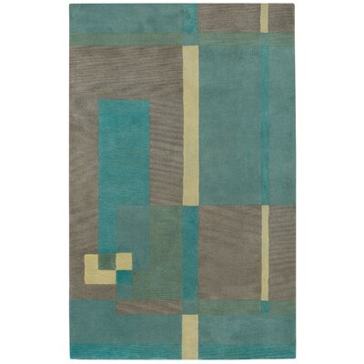 Left Bank Hand Tufted Ocean Area Rug Rug Size: 8 x 11
