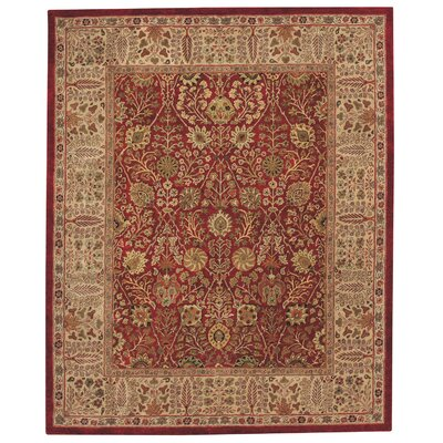 Forest Park Persian Cedars Red Area Rug Rug Size: Round 6'