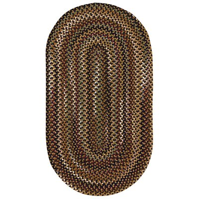 Fort Lupton Charcoal Area Rug Rug Size: Oval 114 x 144