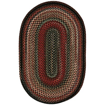 Burdock Coal Area Rug Rug Size: Oval 18 x 26