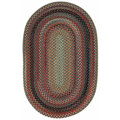 Portland Medium Blue Area Rug Rug Size: Oval 2 x 3