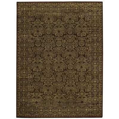 Tonal Trace Brown Area Rug Rug Size: 56 x 86