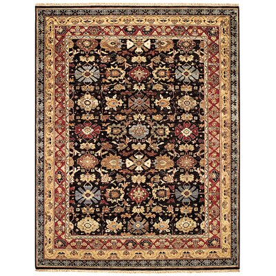 Gloria Rust/Pewter Area Rug Rug Size: 4 x 6
