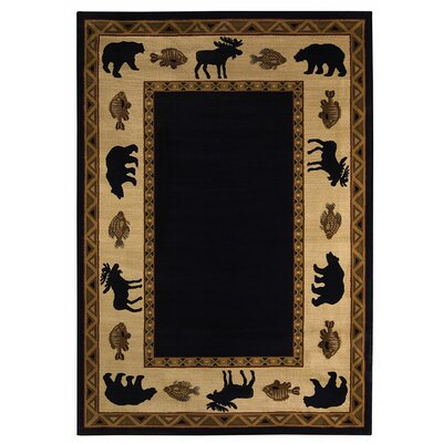 Cottage Grove Ebony Novelty Rug Rug Size: 53 x 76