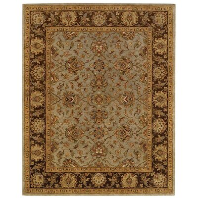 Monticello Celadon/Cocoa Meshed Area Rug Rug Size: Rectangle 9 x 12