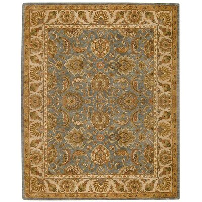 Monticello Blue Slate/Cream Mahal Area Rug Rug Size: 8 x 10