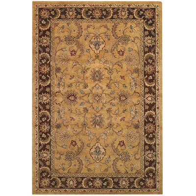 Monticello Amber/Brown Persian Area Rug Rug Size: 2 x 3