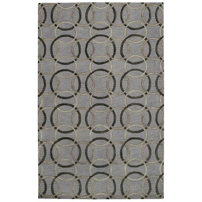 Desert Plateau Charcoal Ringlets Area Rug Rug Size: 8 x 11