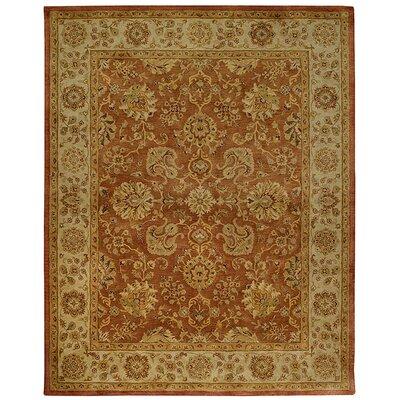 Orinda Persimmon Ushak Red/Beige Area Rug Rug Size: 2 x 3