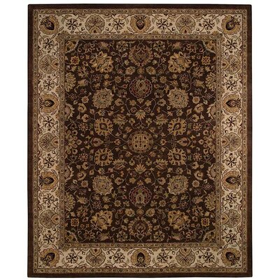Forest Park Medallions Dark Coffee Area Rug Rug Size: 56 x 86