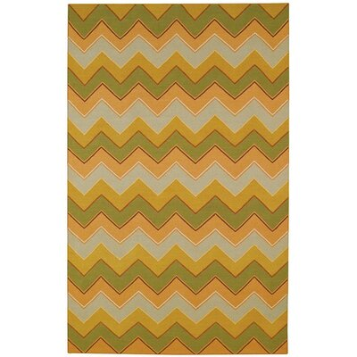 Irish Stitch Honey/Moss Area Rug Rug Size: 7 x 96
