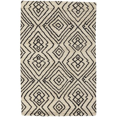 Fortress Hand-Knotted Ivory Area Rug Rug Size: 8 x 11