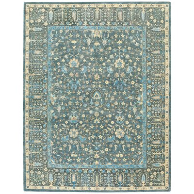 Smyrna Hand-Tufted Blue Area Rug Rug Size: Runner 26 x 86