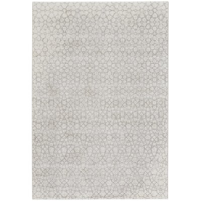 Edgware Silver Indoor/Outdoor Area Rug Rug Size: 53 x 76