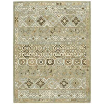 Smyrna Hand-Tufted Buff Area Rug Rug Size: Runner 26 x 86