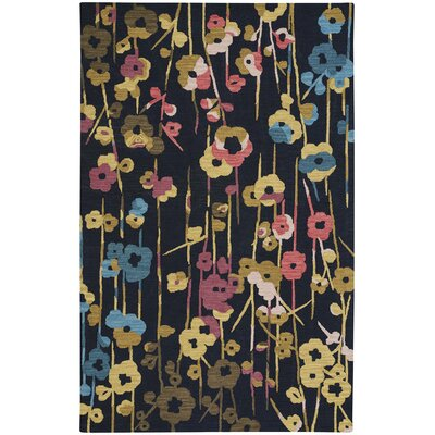 Branch Hand-Tufted Blue Area Rug Rug Size: 5 x 8