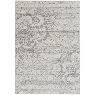 Channel Gray Indoor/Outdoor Area Rug Rug Size: 5'3