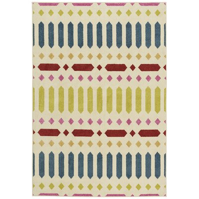 Genevieve Gorder Blue/Green Indoor/Outdoor Area Rug Rug Size: 52 x 76