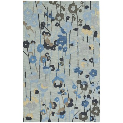 Branch Hand-Tufted Blue/Phlox Area Rug Rug Size: 5 x 8