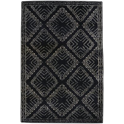 Fortress Hand-Knotted Ebony Area Rug Rug Size: 8 x 11