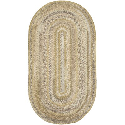 Harborview Natural Area Rug Rug Size: Oval 114 x 144
