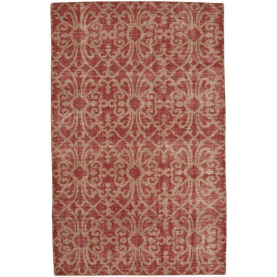 Classic Hand-Knotted Red Area Rug Rug Size: 5 x 8