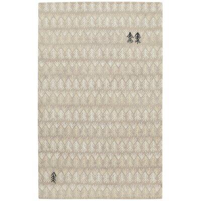 Genevieve Gorder Hand-Tufted Beige Area Rug Rug Size: 5 x 8