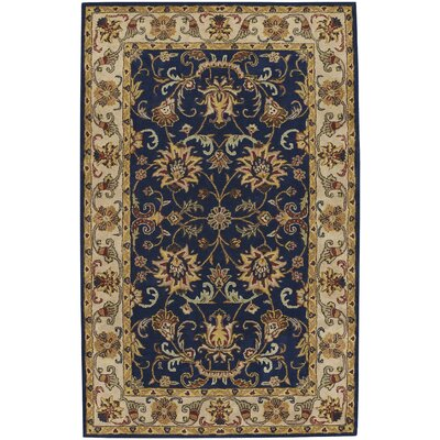 Guilded Hand-Tufted Blue Area Rug Rug Size: 26 x 36