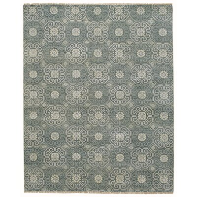 Burmesse Hand-Knotted Pewter Area Rug Rug Size: 36 x 56
