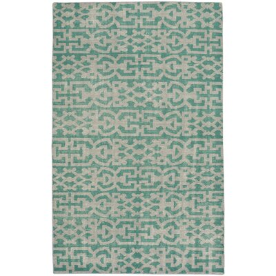 Classic Hand-Knotted Grass Area Rug Rug Size: 36 x 56
