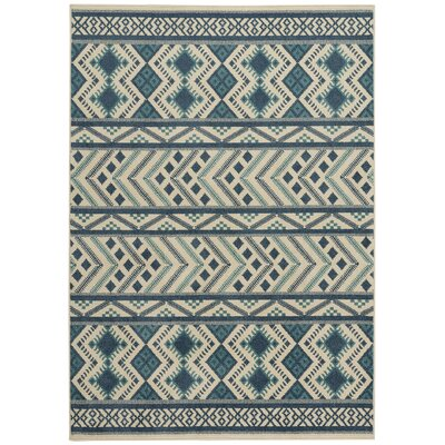 Pillar Blue Indoor/Outdoor Area Rug Rug Size: 52 x 76