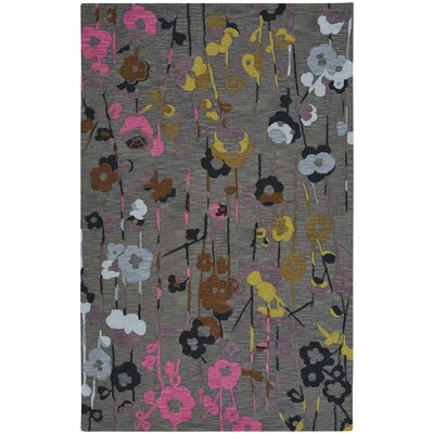 Branch Hand-Tufted Smoke Area Rug Rug Size: 5 x 8