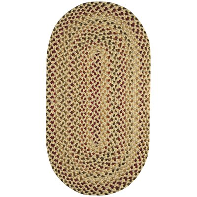 Pristene Yellow Area Rug Rug Size: Oval 5 x 8