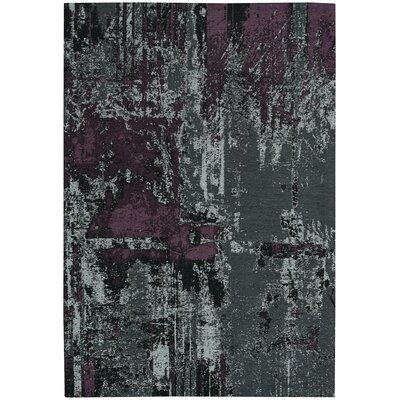Celestial Smoke Violet And Gray Area Rug Rug Size: 5 x 8