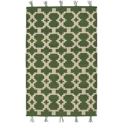 Pillar Green Area Rug Rug Size: 7 x 9
