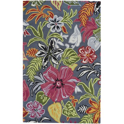 Blooming Hand-Tufted Dove Area Rug Rug Size: 5 x 8