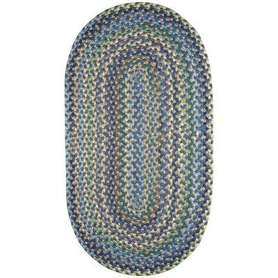 Belles Azure Area Rug Rug Size: Oval 4' x 6'