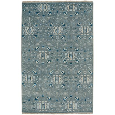 Inspirit Hand-Knotted Gray Area Rug Rug Size: Runner 26 x 9