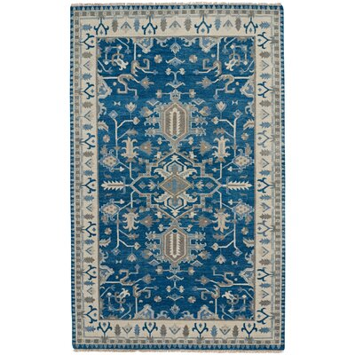 Inspirit Hand-Knotted Deep Blue Area Rug Rug Size: Runner 26 x 9