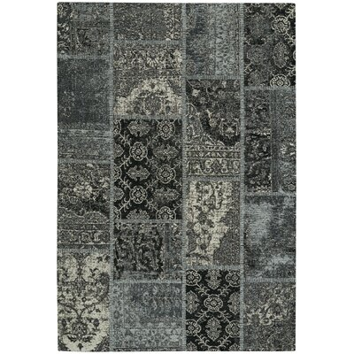 Celestial Nickel/Ebony Area Rug Rug Size: 5 x 8