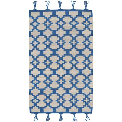 Pillar Blue Area Rug Rug Size: 7 x 9