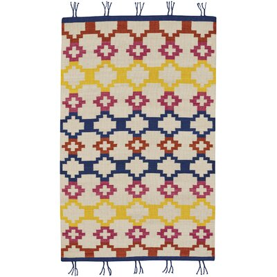 Pillar Red/Yellow Area Rug Rug Size: 5 x 8