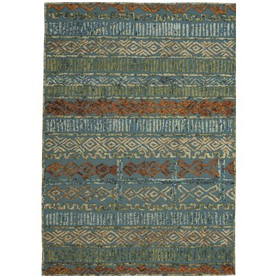 Congo Hand-Tufted Blue/Green Area Rug Rug Size: 7 x 9
