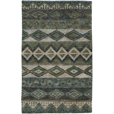 Striation Green Area Rug Rug Size: 36 x 56
