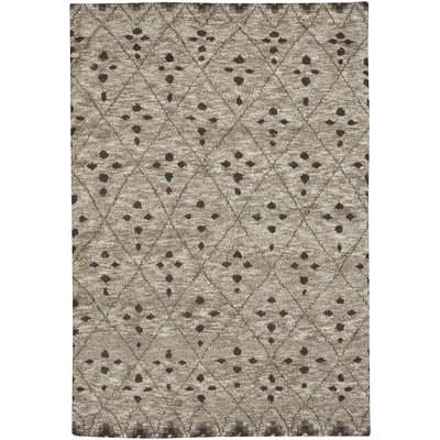 Fortress Hand-Knotted Tan Area Rug Rug Size: 7 x 9