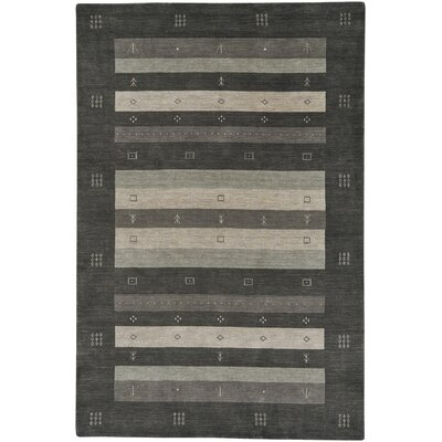 Gava Hand-Tufted Charcoal Area Rug Rug Size: 5' x 8'